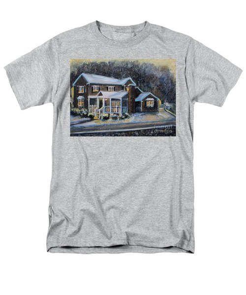 Home On A Snowy Eve Men's T-Shirt  (Regular Fit) by Rita Brown