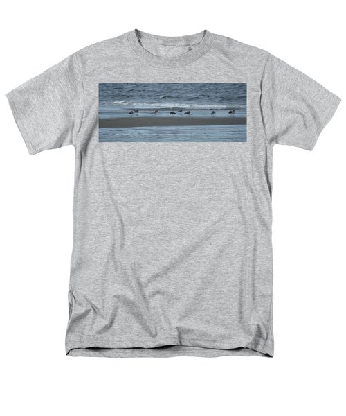 Horizontal Shoreline With Birds Men's T-Shirt  (Regular Fit) by Margie Avellino