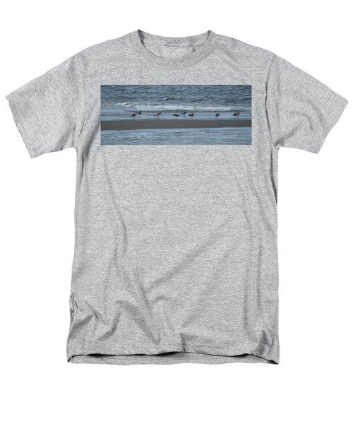 Horizontal Shoreline With Birds Men's T-Shirt  (Regular Fit)