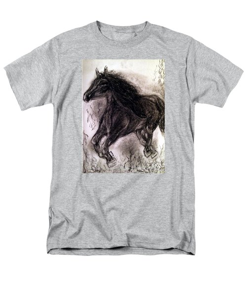 Men's T-Shirt  (Regular Fit) featuring the painting Horse by Brindha Naveen