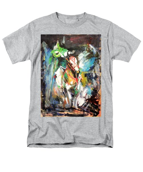 Horse,horseman And The Target Men's T-Shirt  (Regular Fit) by Khalid Saeed