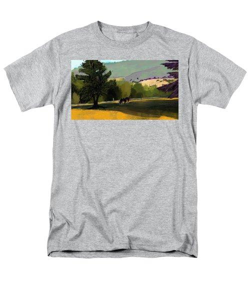 Horses In Field Men's T-Shirt  (Regular Fit) by Debra Baldwin