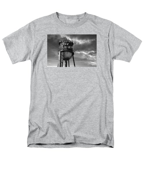 Men's T-Shirt  (Regular Fit) featuring the photograph House Of Blues B/w by Laura Fasulo