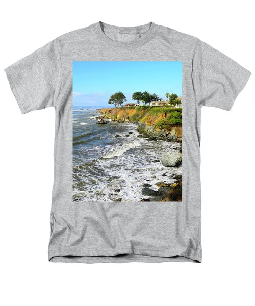 Men's T-Shirt  (Regular Fit) featuring the photograph House On The Point Cayucos California by Barbara Snyder