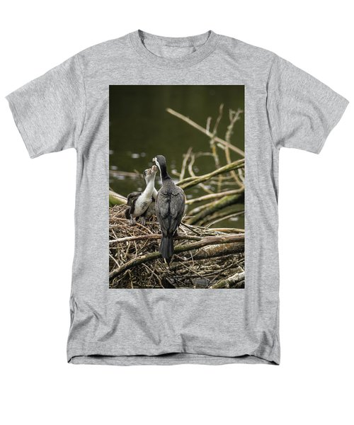 Hungry Pied Shag Chicks Men's T-Shirt  (Regular Fit) by Racheal Christian