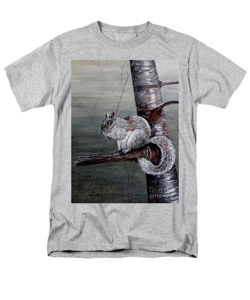 Hungry Squirrel Men's T-Shirt  (Regular Fit) by Judy Kirouac