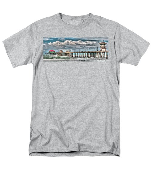 Men's T-Shirt  (Regular Fit) featuring the photograph Huntington Beach Winter 2017 by Jim Carrell