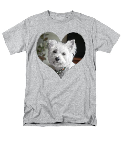 I Heart Puppy On A Transparent Background Men's T-Shirt  (Regular Fit) by Terri Waters