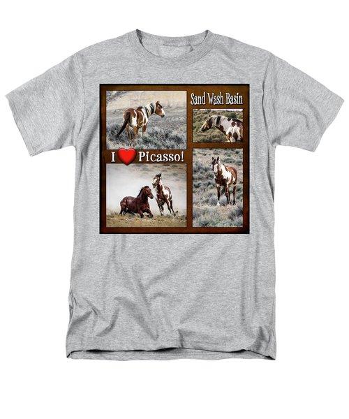 I Love Picasso Collage Men's T-Shirt  (Regular Fit)