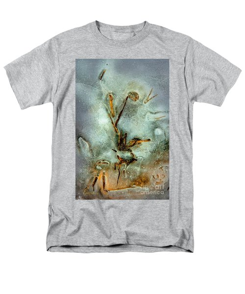 Men's T-Shirt  (Regular Fit) featuring the photograph Ice Abstract by Tom Cameron