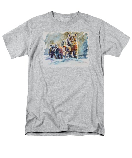 Men's T-Shirt  (Regular Fit) featuring the painting Ice Bears by P Maure Bausch