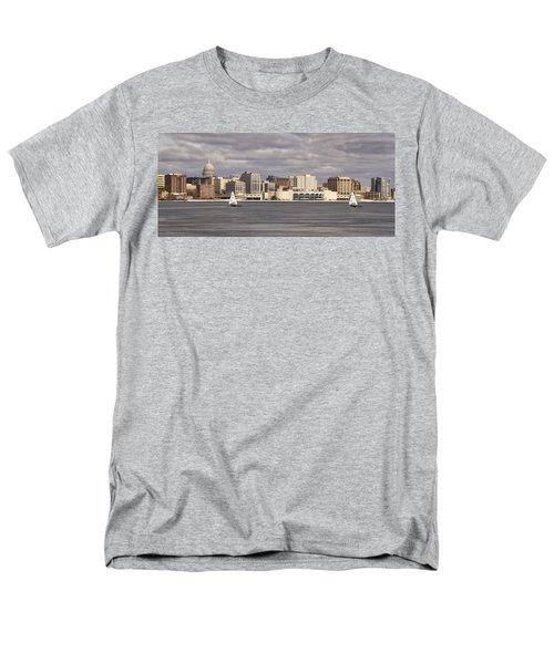Ice Sailing - Lake Monona - Madison - Wisconsin Men's T-Shirt  (Regular Fit) by Steven Ralser