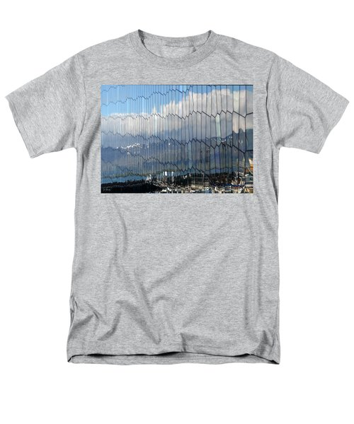 Men's T-Shirt  (Regular Fit) featuring the photograph Iceland Harbor And Mountains by Joe Bonita