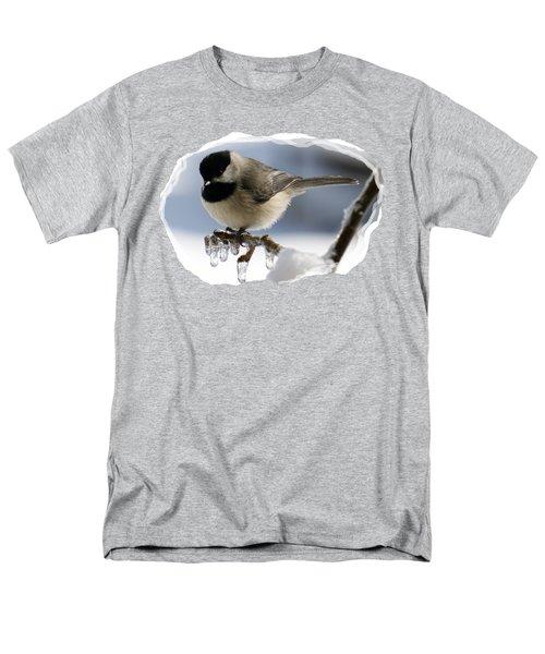 Icicle Perch Men's T-Shirt  (Regular Fit) by Karen Beasley