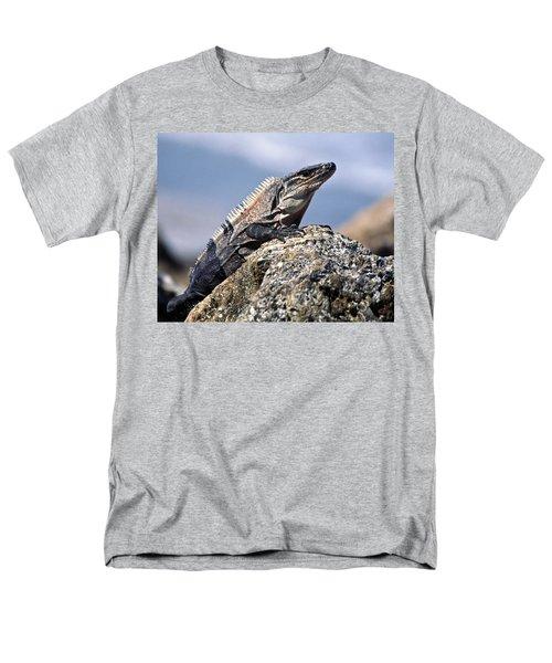 Iguana Men's T-Shirt  (Regular Fit) by Sally Weigand