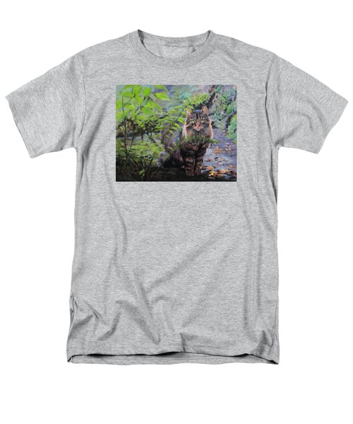 Men's T-Shirt  (Regular Fit) featuring the painting In The Forest by Karen Ilari