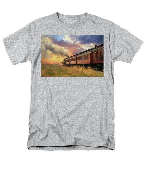 Men's T-Shirt  (Regular Fit) featuring the mixed media Into The Sunset by Lori Deiter