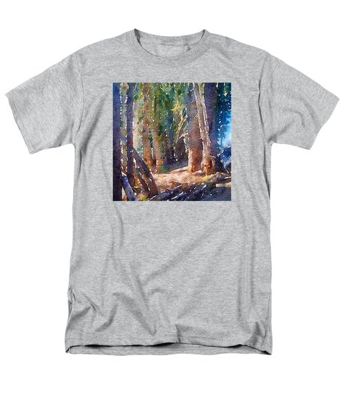 Men's T-Shirt  (Regular Fit) featuring the photograph Into The Woods Again by Ronda Broatch