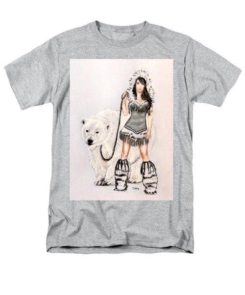 Inuit Pin-up Girl Men's T-Shirt  (Regular Fit) by Teresa Wing