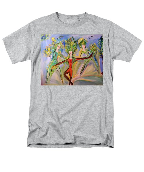Irish Greenery  Men's T-Shirt  (Regular Fit) by Judith Desrosiers