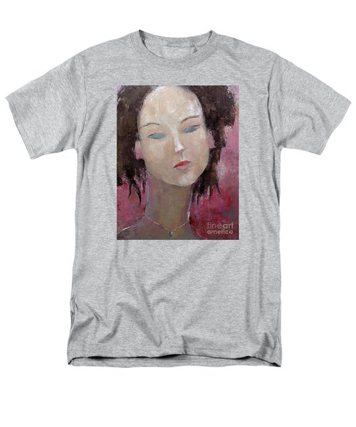 Men's T-Shirt  (Regular Fit) featuring the painting Jade Amethyst by Becky Kim