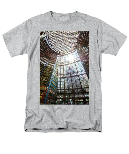 Men's T-Shirt  (Regular Fit) featuring the photograph James R Thompson Center Interior II Chicago by Deborah Smolinske