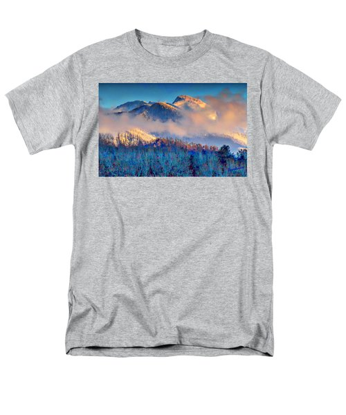 January Evening Truchas Peak Men's T-Shirt  (Regular Fit) by Anastasia Savage Ealy