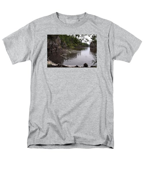 Men's T-Shirt  (Regular Fit) featuring the photograph Just Around The Bend by Sandra Updyke