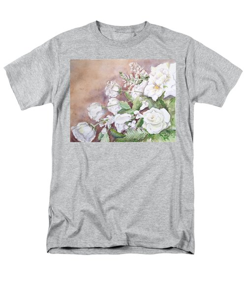 Men's T-Shirt  (Regular Fit) featuring the painting Justin's Flowers by Marilyn Zalatan