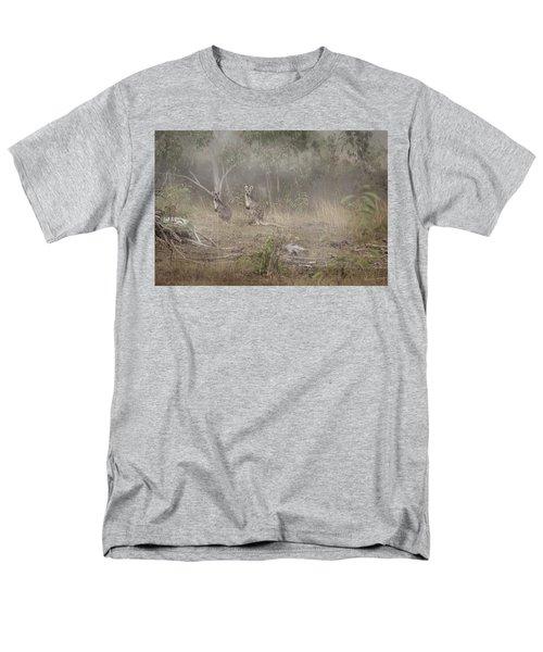 Kangaroos In The Mist Men's T-Shirt  (Regular Fit) by Az Jackson
