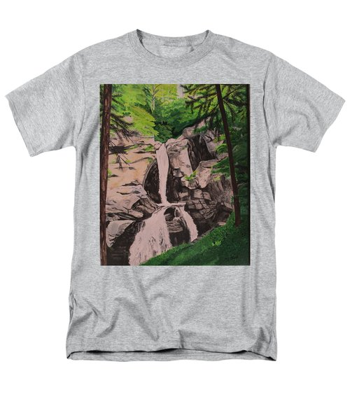 Men's T-Shirt  (Regular Fit) featuring the painting Kent Falls by Hilda and Jose Garrancho