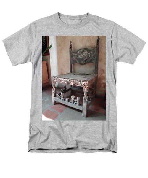 Kenyan African Antique Carved Chair Men's T-Shirt  (Regular Fit) by Exploramum Exploramum
