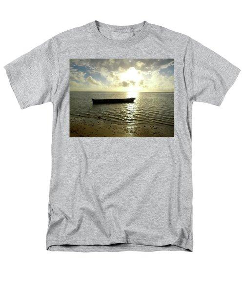 Kenyan Wooden Dhow At Sunrise Men's T-Shirt  (Regular Fit) by Exploramum Exploramum