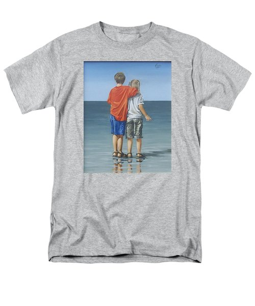 Men's T-Shirt  (Regular Fit) featuring the painting Kids by Natalia Tejera