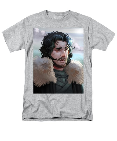 Men's T-Shirt  (Regular Fit) featuring the painting King In The North by Michael Myers