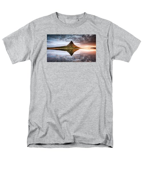 Kirkjafell Mountain Sunrise Men's T-Shirt  (Regular Fit) by Brad Grove
