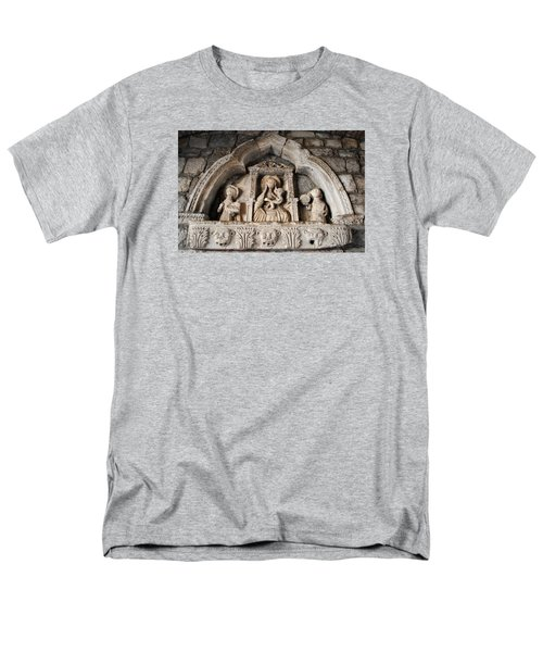 Men's T-Shirt  (Regular Fit) featuring the photograph Kotor Wall Engraving by Robert Moss