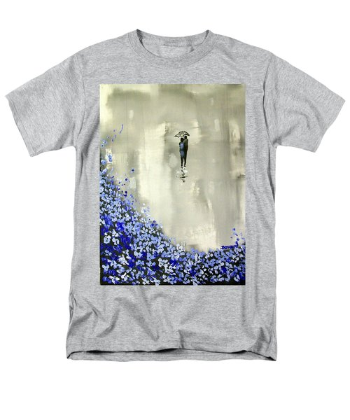 Men's T-Shirt  (Regular Fit) featuring the painting Lady In Blue by Raymond Doward