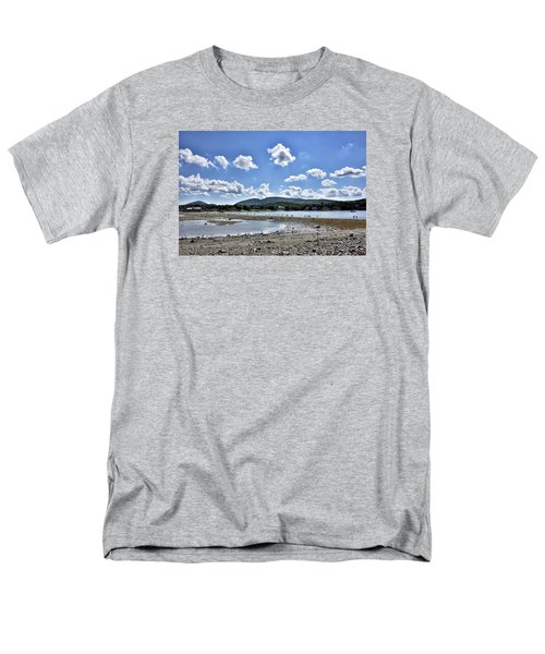 Land Bridge From Bar Harbor To Bar Island - Maine Men's T-Shirt  (Regular Fit) by Brendan Reals