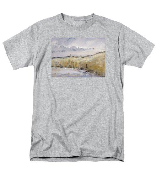 Landscape In Gray Men's T-Shirt  (Regular Fit) by Carolyn Doe