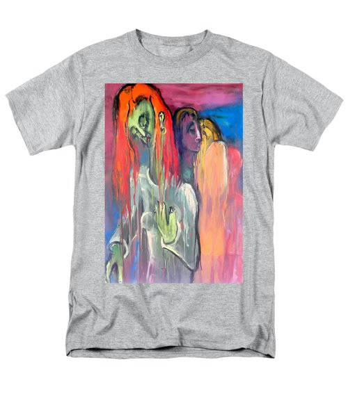 Men's T-Shirt  (Regular Fit) featuring the painting Last Original Lineup by Kenneth Agnello