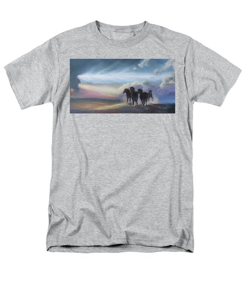 Last Run Of The Day Men's T-Shirt  (Regular Fit) by Karen Kennedy Chatham
