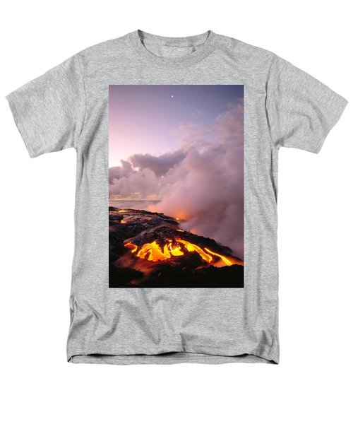 Lava Flows At Sunrise Men's T-Shirt  (Regular Fit) by Peter French - Printscapes