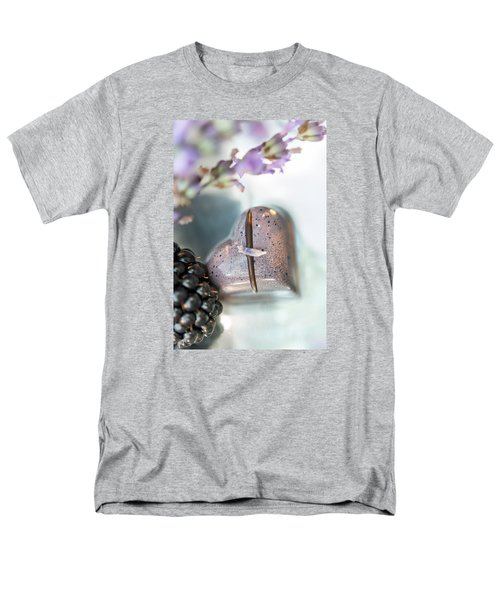 Lavender Heart Men's T-Shirt  (Regular Fit) by Sabine Edrissi