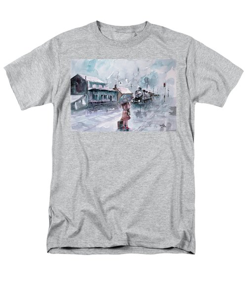 Men's T-Shirt  (Regular Fit) featuring the painting Leaving... by Faruk Koksal