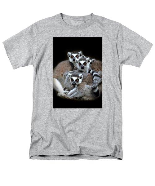 Men's T-Shirt  (Regular Fit) featuring the photograph Lemurs by Marion Johnson