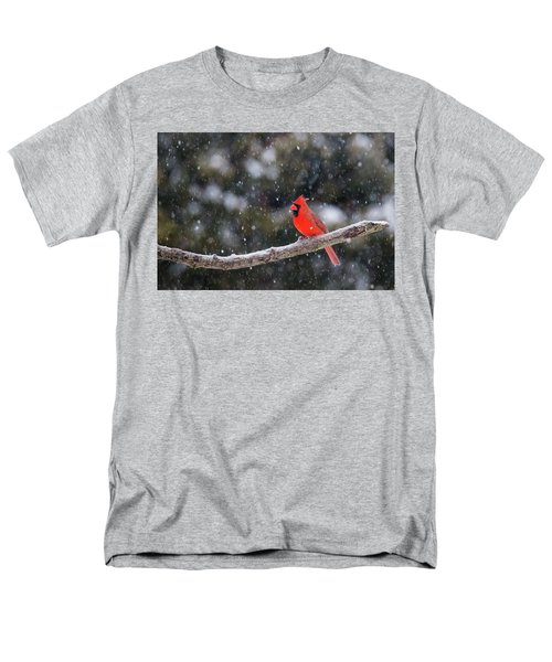 Men's T-Shirt  (Regular Fit) featuring the photograph Let It Snow by Mircea Costina Photography