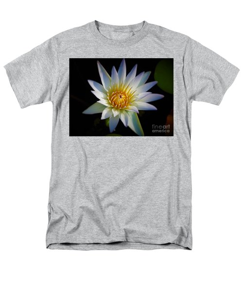 Light Blue Water Lily Men's T-Shirt  (Regular Fit) by Chad and Stacey Hall