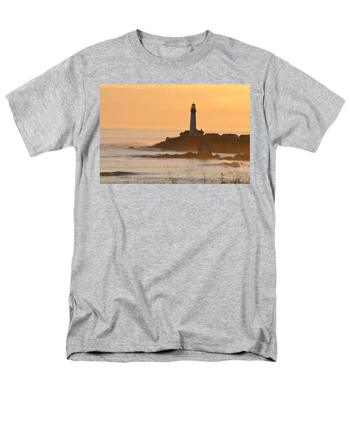 Lighthouse Sunset Men's T-Shirt  (Regular Fit) by Alex King