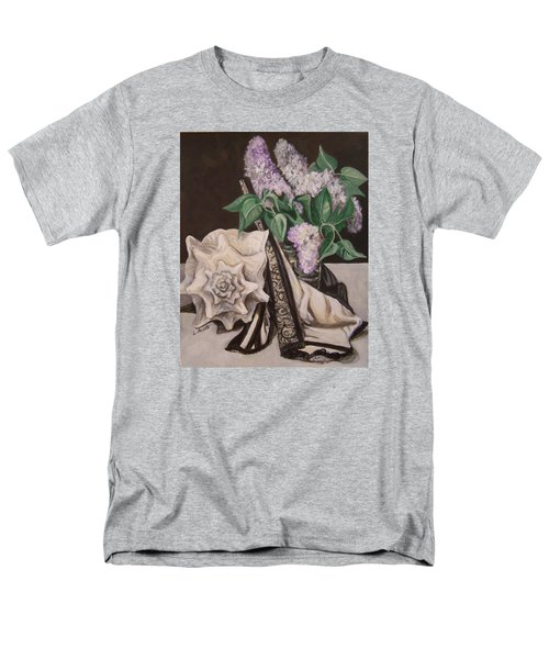 Men's T-Shirt  (Regular Fit) featuring the painting Lilac And Lingerie by Laura Aceto